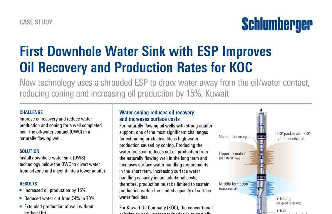 First Downhole Water Sink with ESP Improves Oil Recovery and