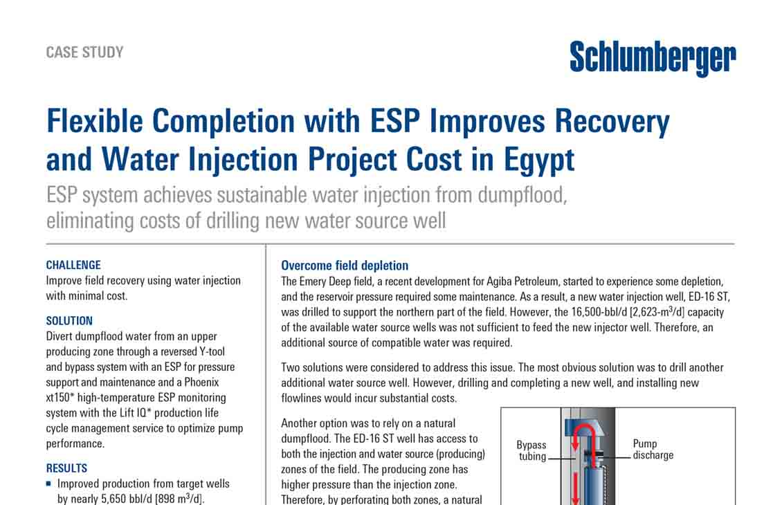 Flexible Completion with ESP Improves Recovery and Water Injection