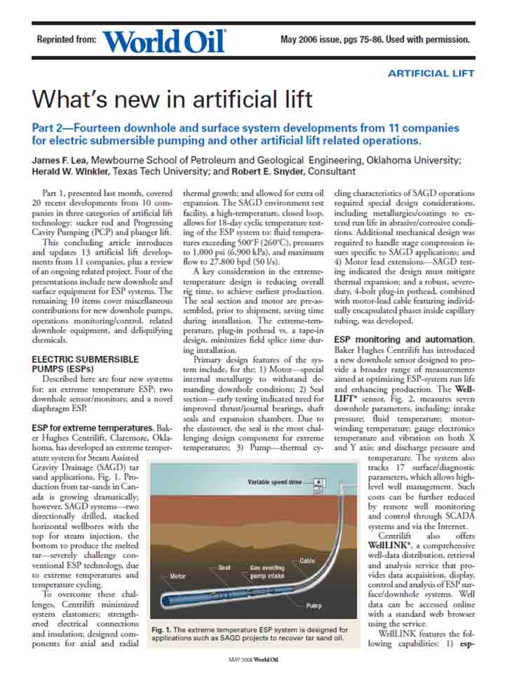 What's New in Artificial Lift