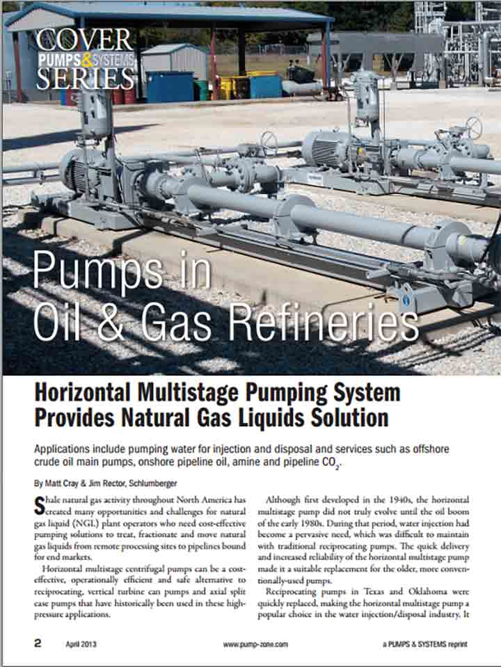 Horizontal Multistage Pumping System Provides Natural Gas Liquids Solution