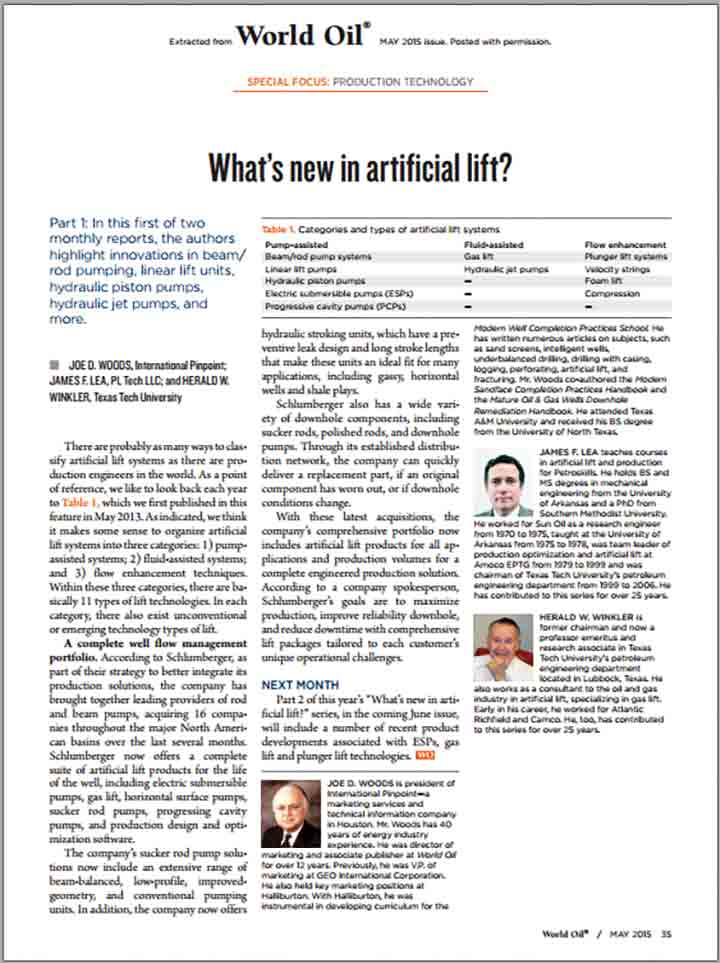 2015 What's New in Artificial Lift? Part 1