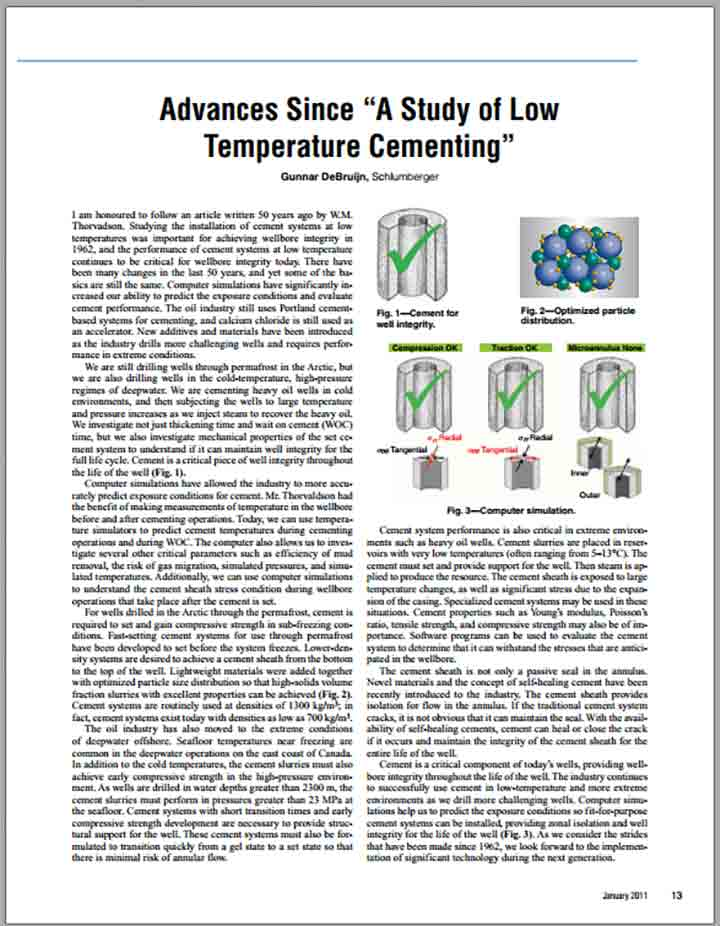 "Advances Since ""A Study of Low Temperature Cementing"""