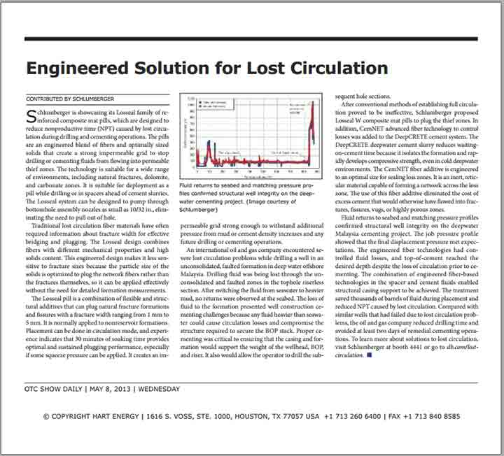 Engineered Solution for Lost Circulation