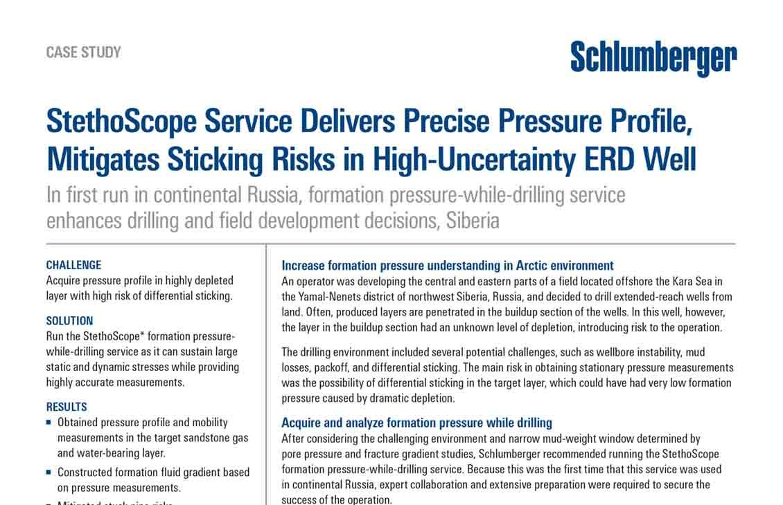 StethoScope Service Delivers Precise Pressure Profile