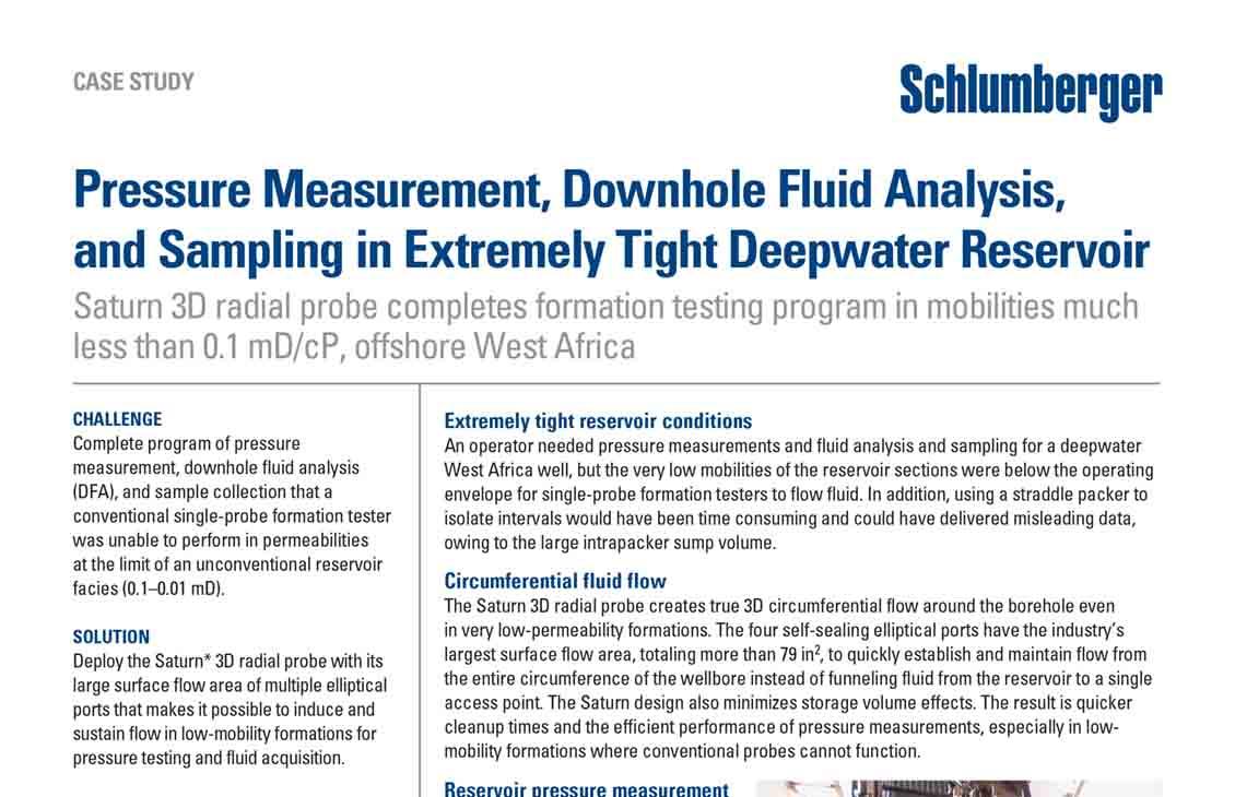 Pressure Measurement, Downhole Fluid Analysis, and Sampling in
