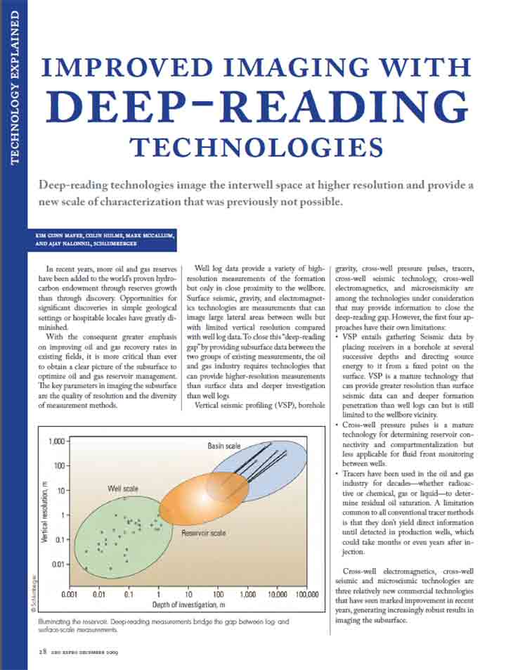 Improved Imaging with Deep-Reading Technologies
