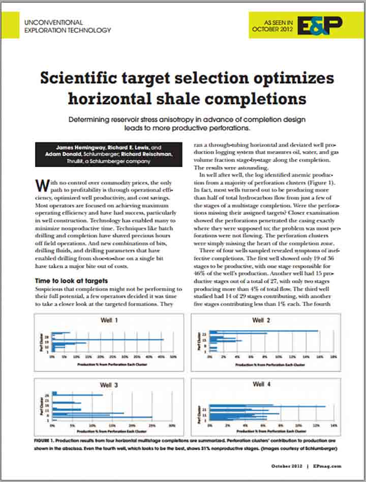 Scientific Target Selection Optimizes Horizontal Shale Completions