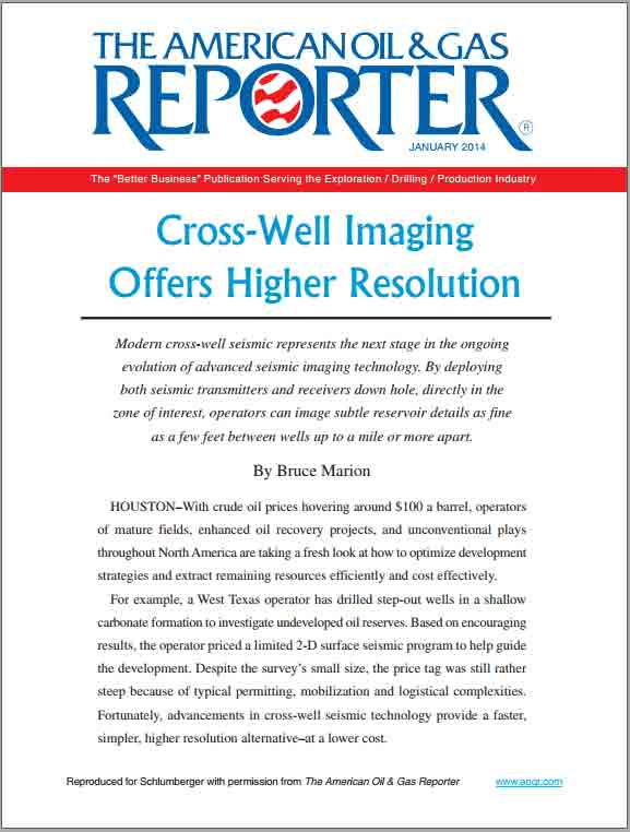 Cross-Well Imaging Offers Higher Resolution