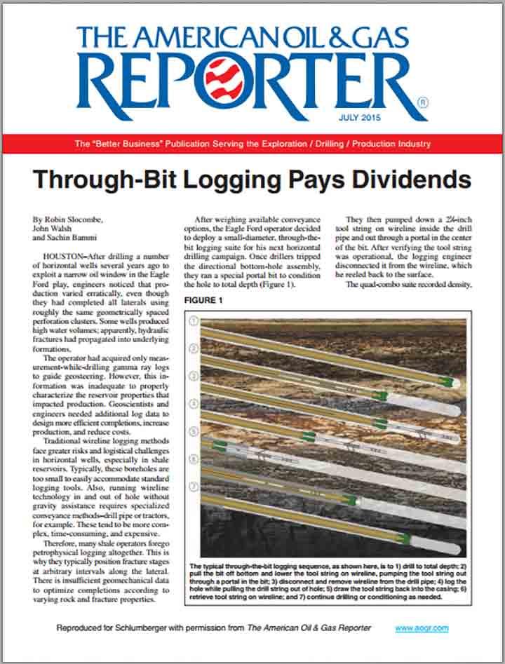 Through-Bit Logging Pays Dividends