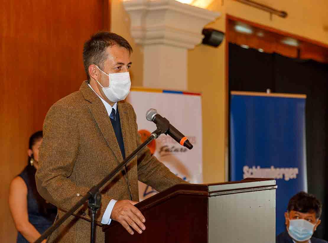 Person speaking at podium.