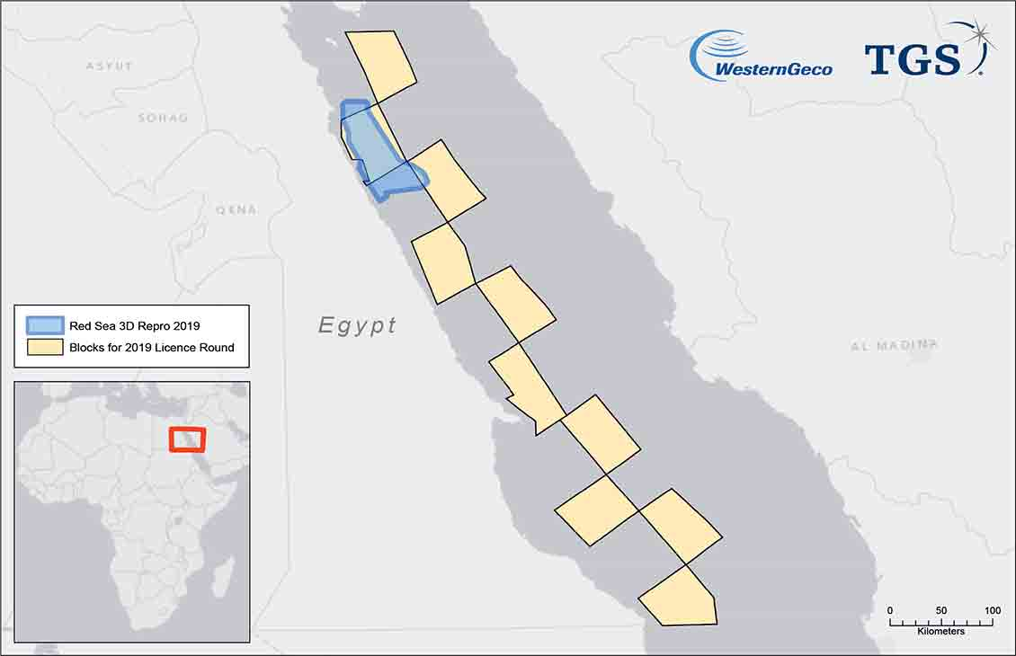 WesternGeco and TGS Egyptian Red Sea 3D reimaging project