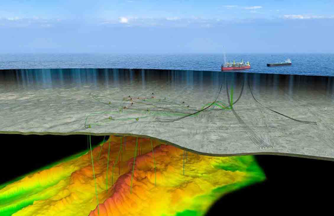 Cut-away image of subsea operations