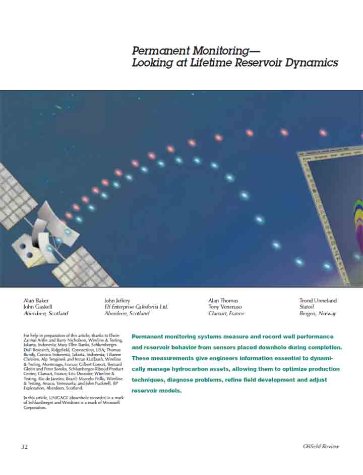Permanent Monitoring: Looking at Lifetime Reservoir Dynamics (Oilfield Review)