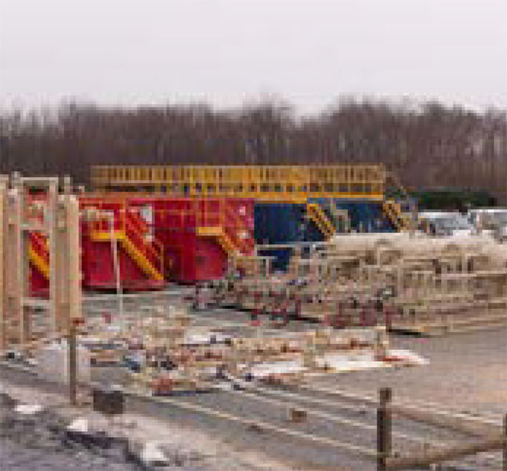 Flowback operations in the Marcellus Shale.