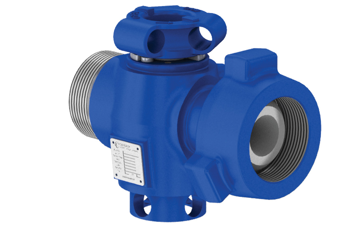 Cameron 2-in × 2-in flow iron plug valve.