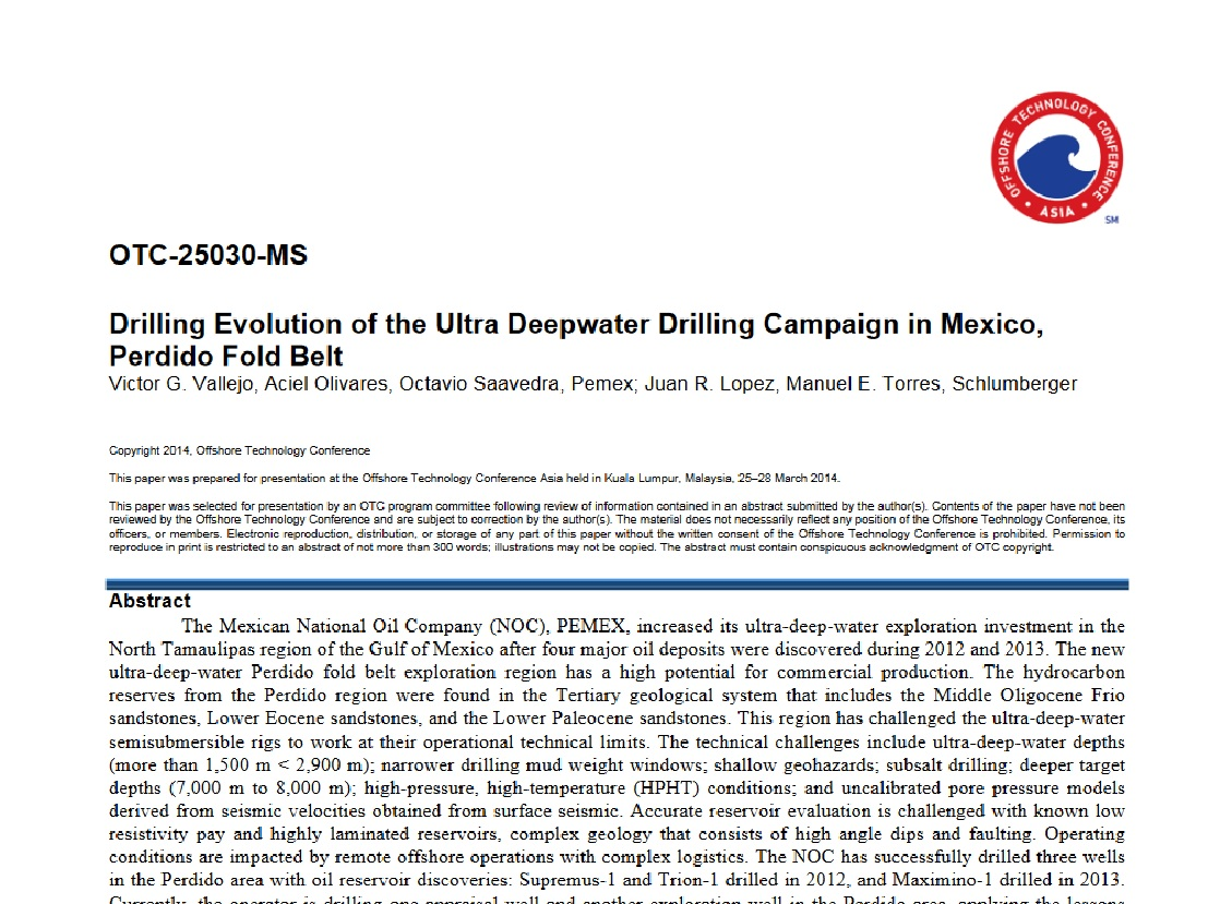Ultradeepwater Drilling Campaign, GOM Perdido Fold Belt   Schlumberger