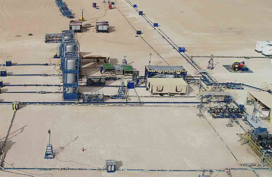 Photograph of fit-for-basin zero-flaring solution for the Khazzan Field.