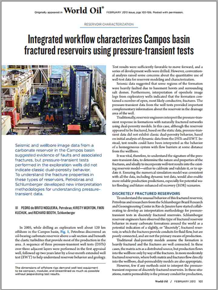 Integrated Workflow Characterizes Campos Basin Fractured Reservoirs Using Pressure-Transient Tests