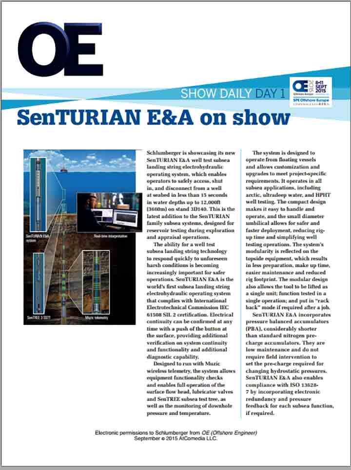 SenTURIAN E&A on Show