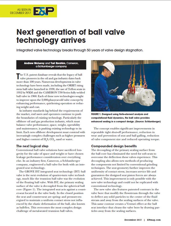 Next generation of ball valve technology arrives