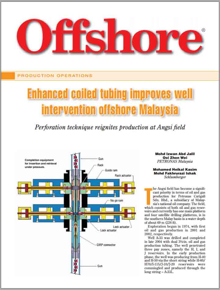 Enhanced Coiled Tubing Improves Well Intervention Offshore Malaysia
