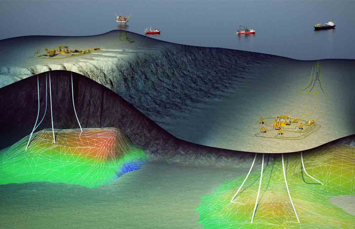 Illustration of a subsea field