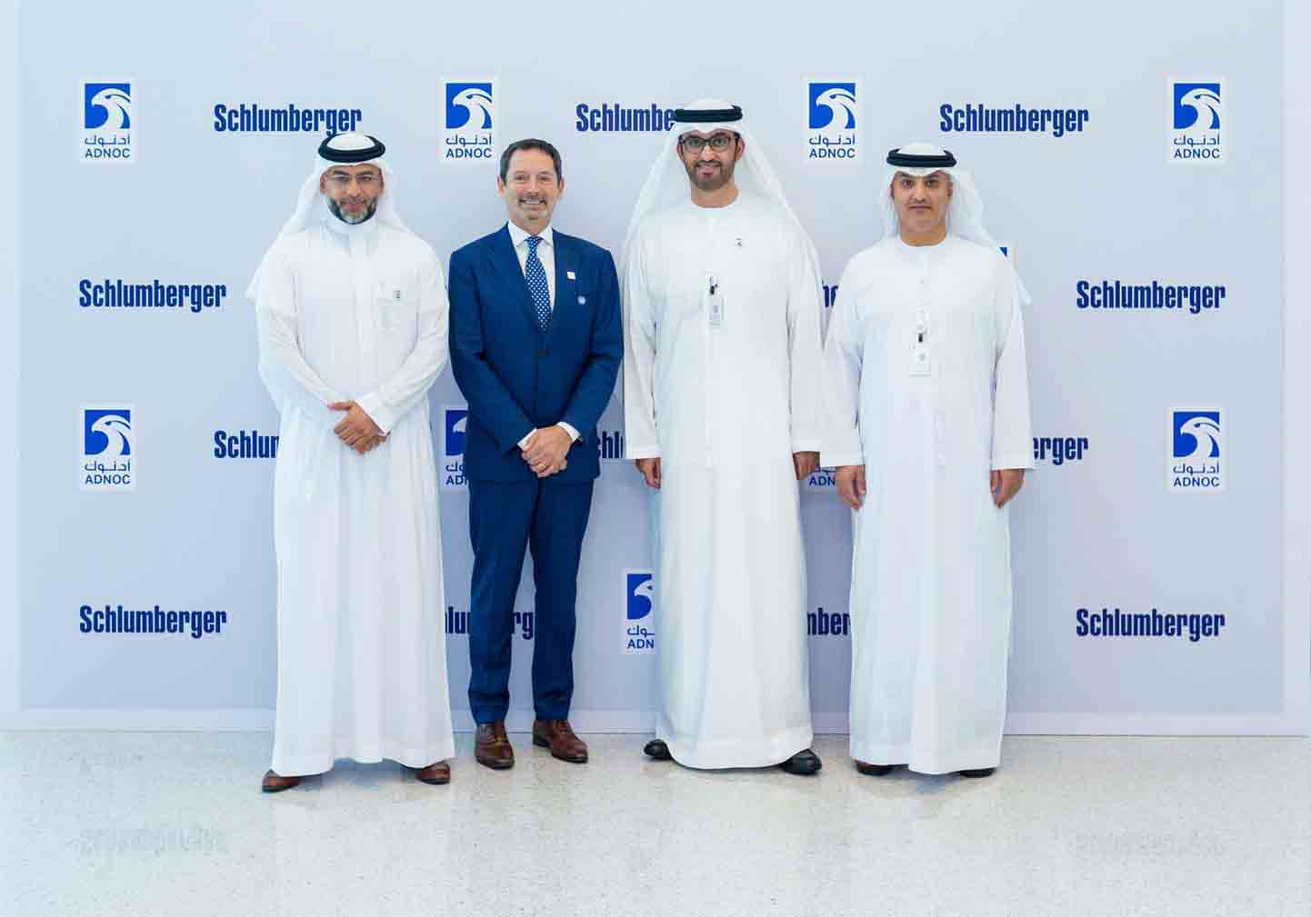 Schlumberger CEO Olivier Le Peuch with ADNOC ICV Program Team