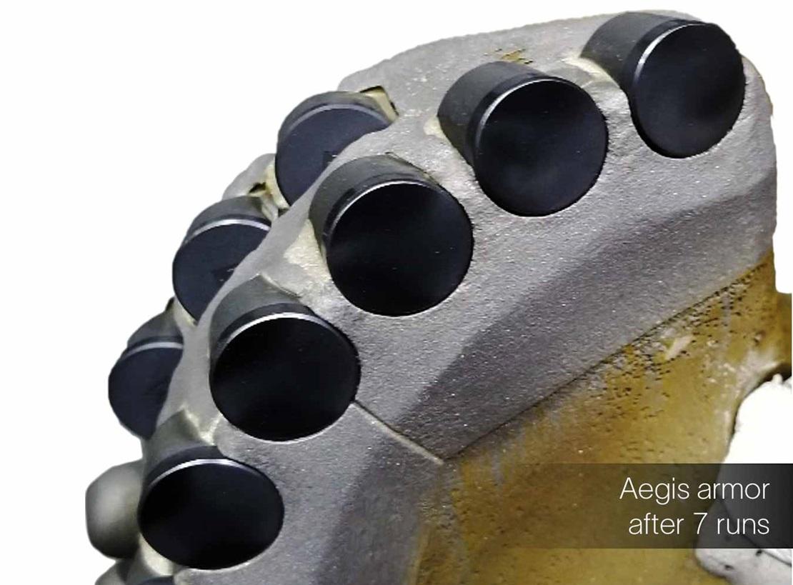 example of Aegis armor cladding