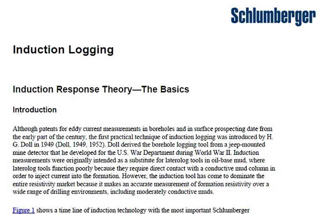 Induction Logging Manual | Schlumberger
