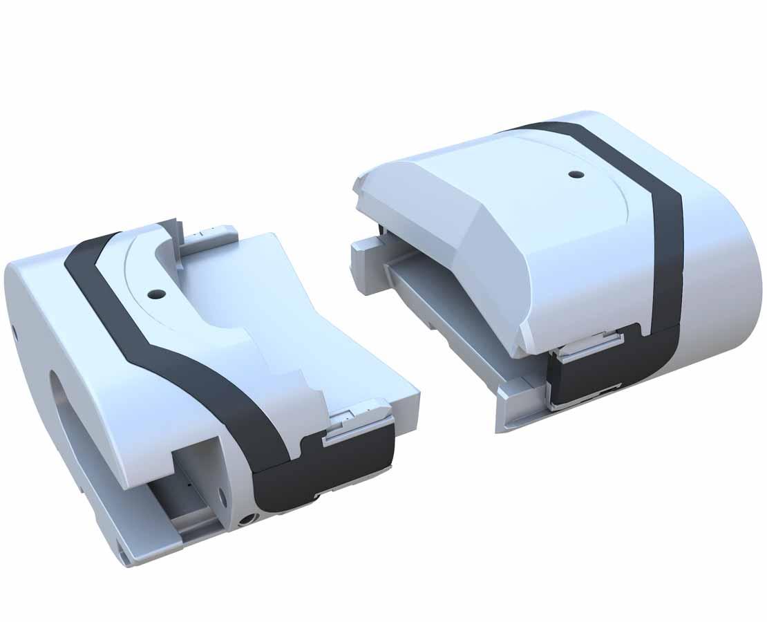 CDVS-II Cable Double-V Shear Ram 3D Model