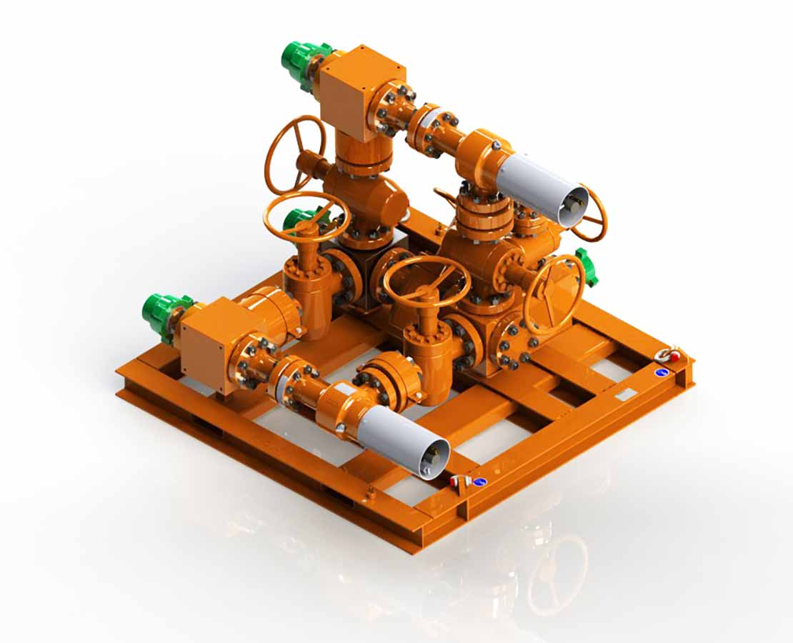 MPD L-Shape Manifolds 3D Model