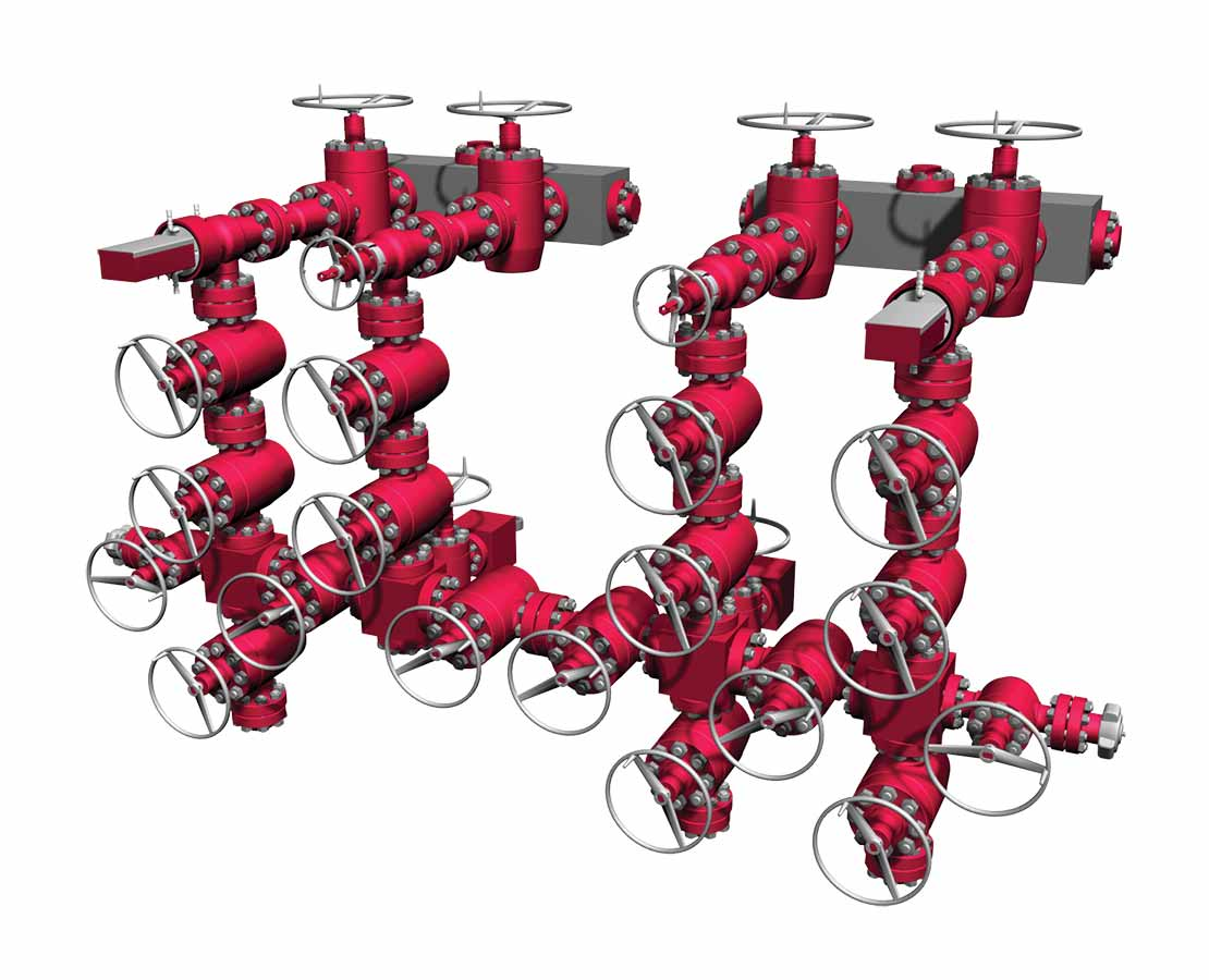 Mud Standpipe Manifold 3D Model