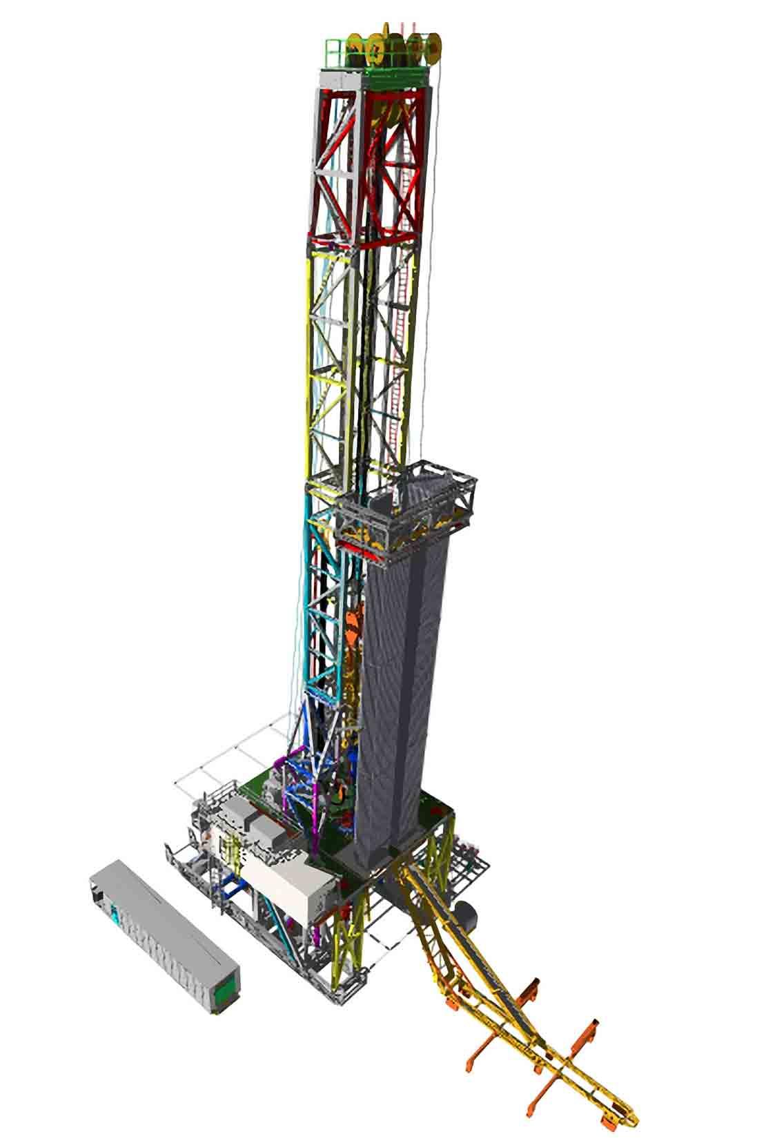 Maverick fast-moving rig isolated on white