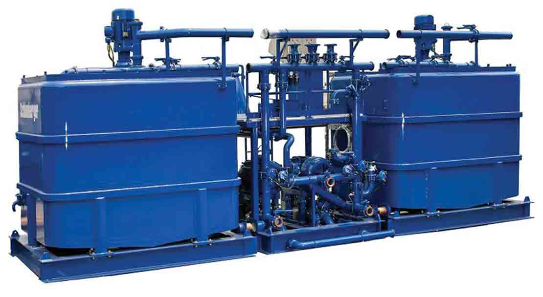 Cutout of the CBS-967 electric batch mixer skid.