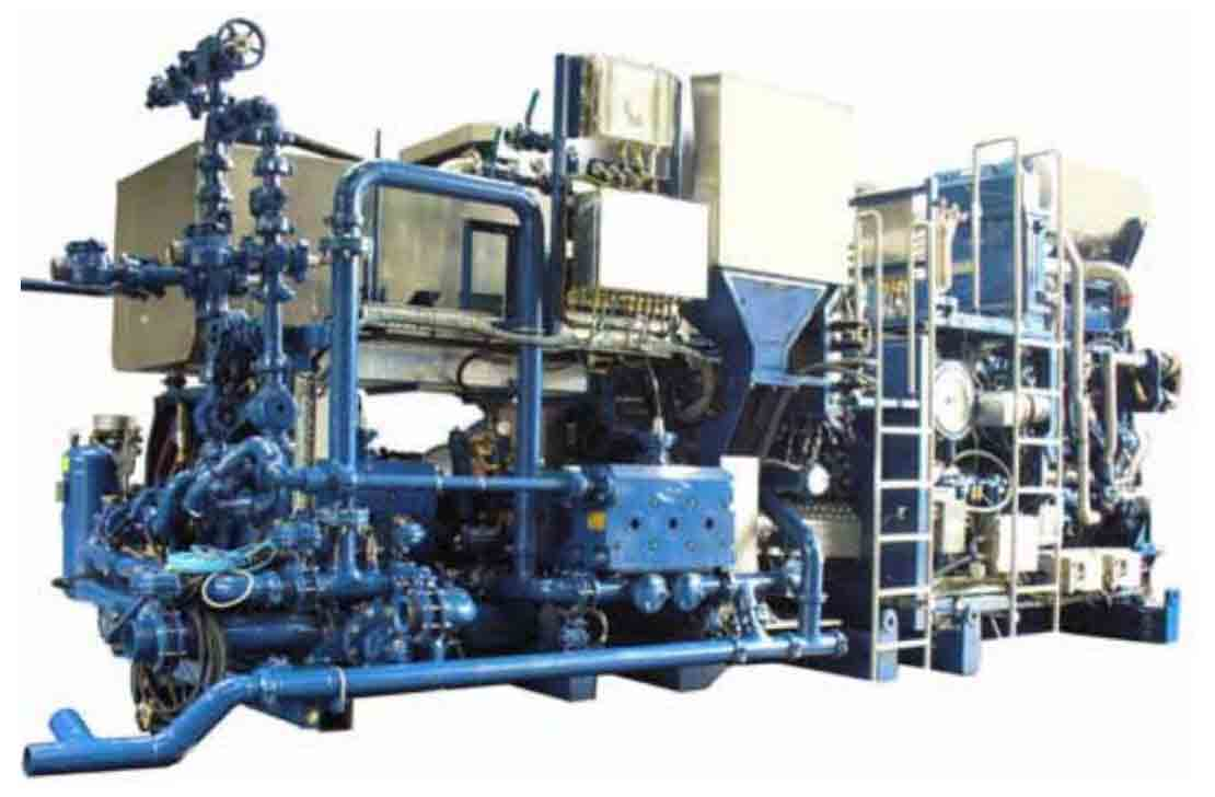 Cutout image of installed CPC-636 land cementing skid