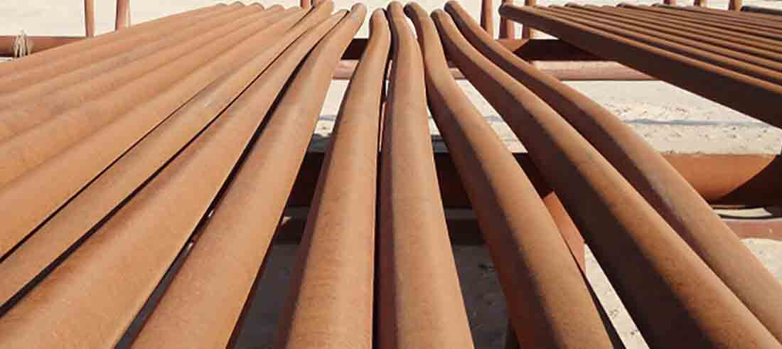 Drilling pipes that have been bent