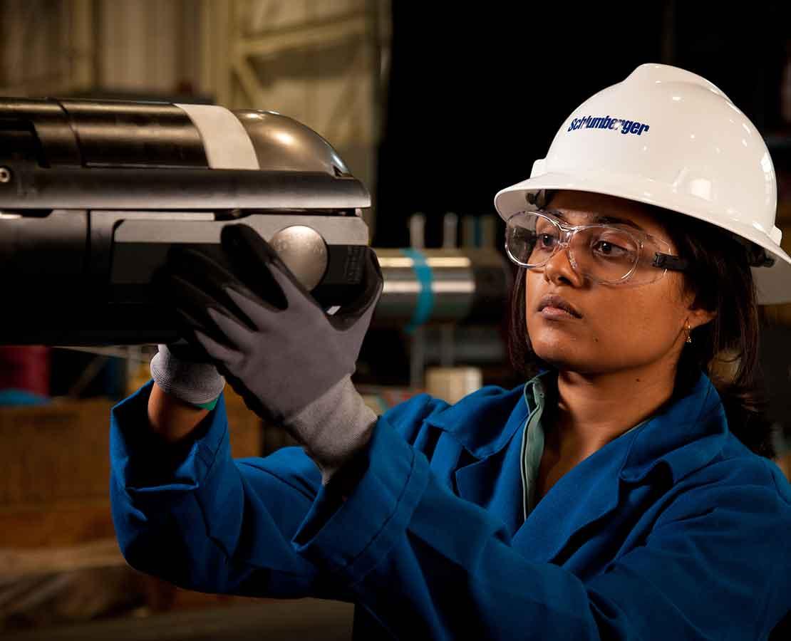 Schlumberger Worker Inspection an Isolation Valve