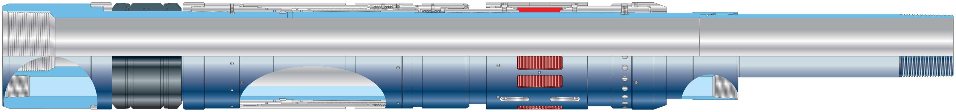 BluePack ESP retrievable hydraulic-set ESP production packer Diagram