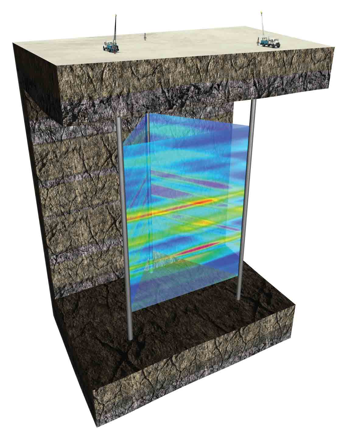 The DeepLook-EM crosswell acquisition system directly measures the resistivity of the reservoir between wells up to 3,280 ft apart.