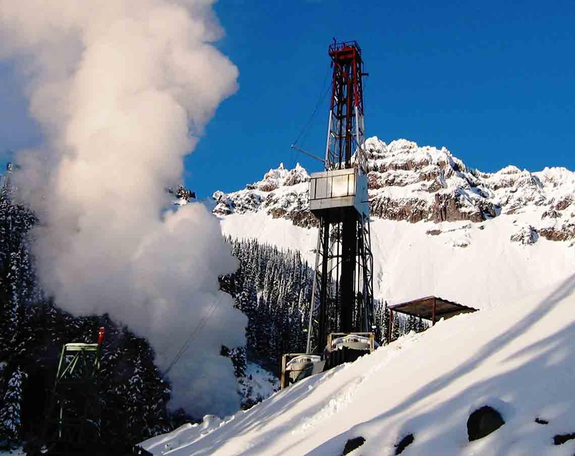 snow rig, plume, geothermal