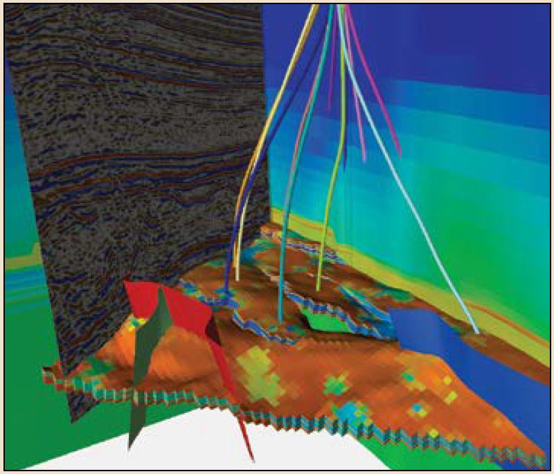 A laboratory model shows bedding plane failure in a hole drilled parallel to bedding in a fissile shale.