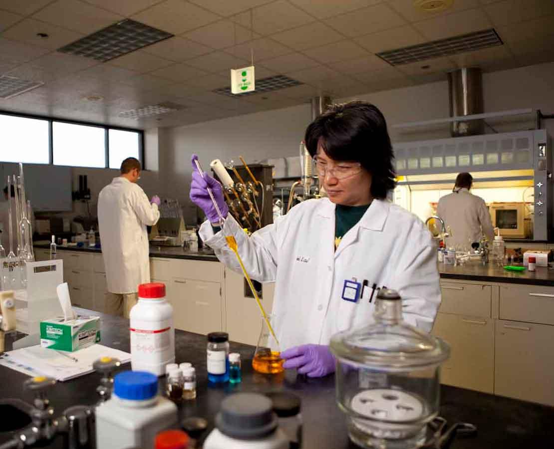 Testing liquids in laboratory