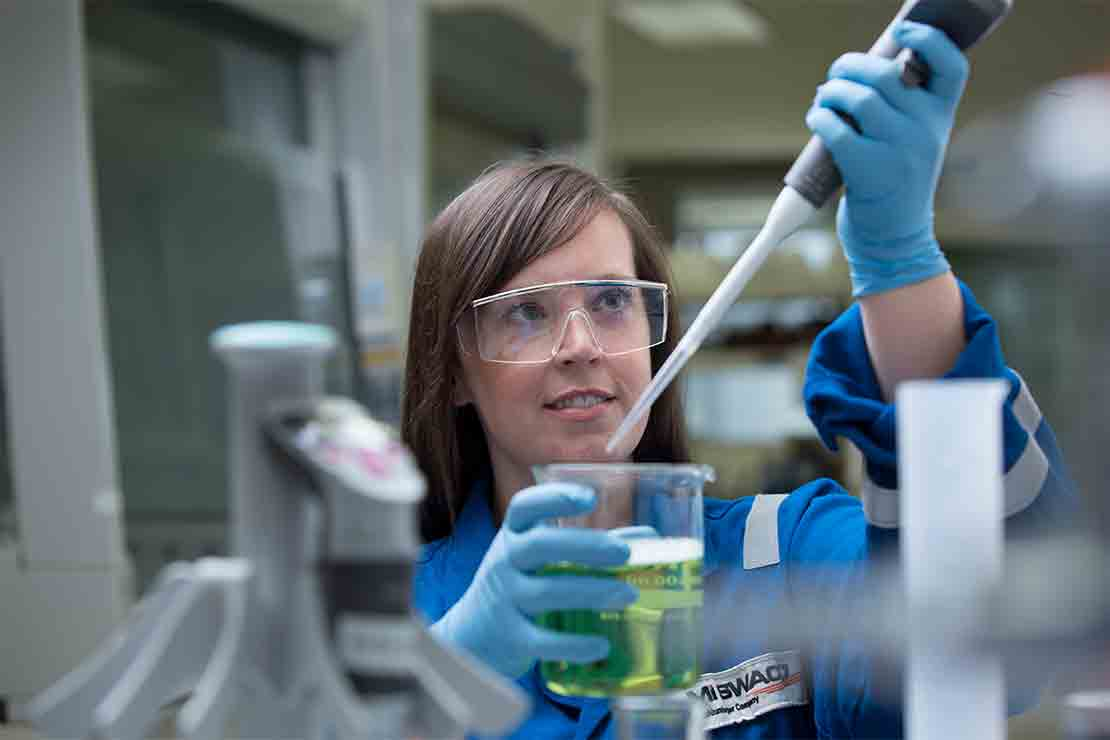 Worker in laboratory