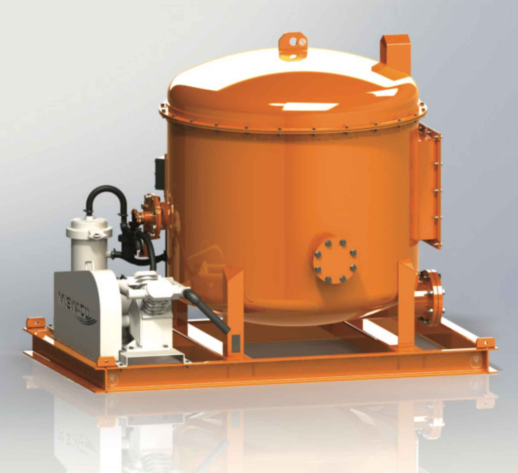 COMPACT D-GASSER small-footprint vacuum degassing unit