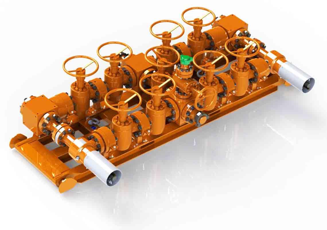 MPD Equipment - Flat Design MPD Manifold