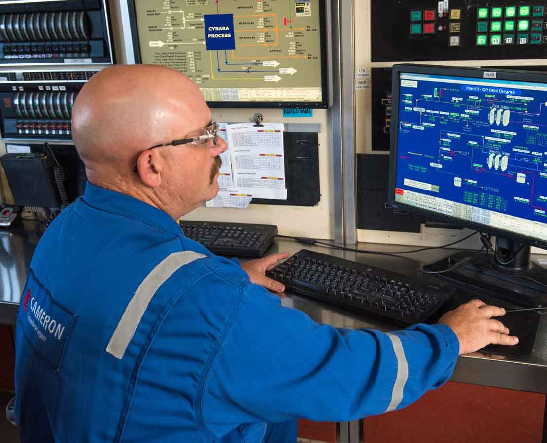 SACROC processing facility control room