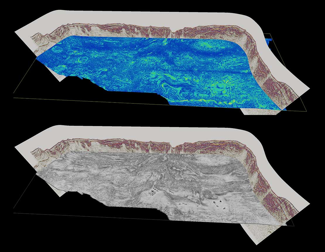 View from GAIA platform showing basin modeling