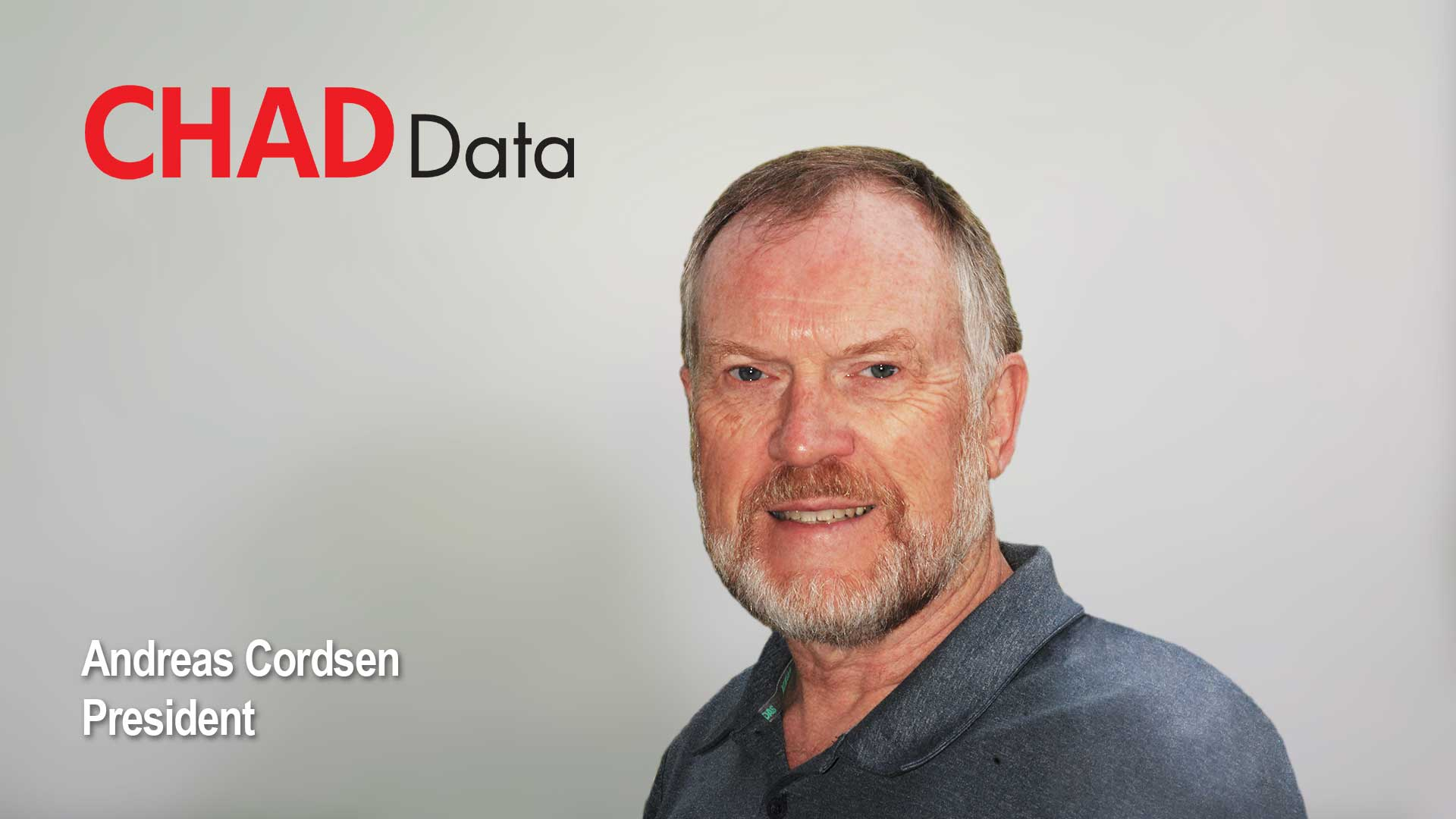 Photograph of Andreas Cordsen, president of CHAD Data