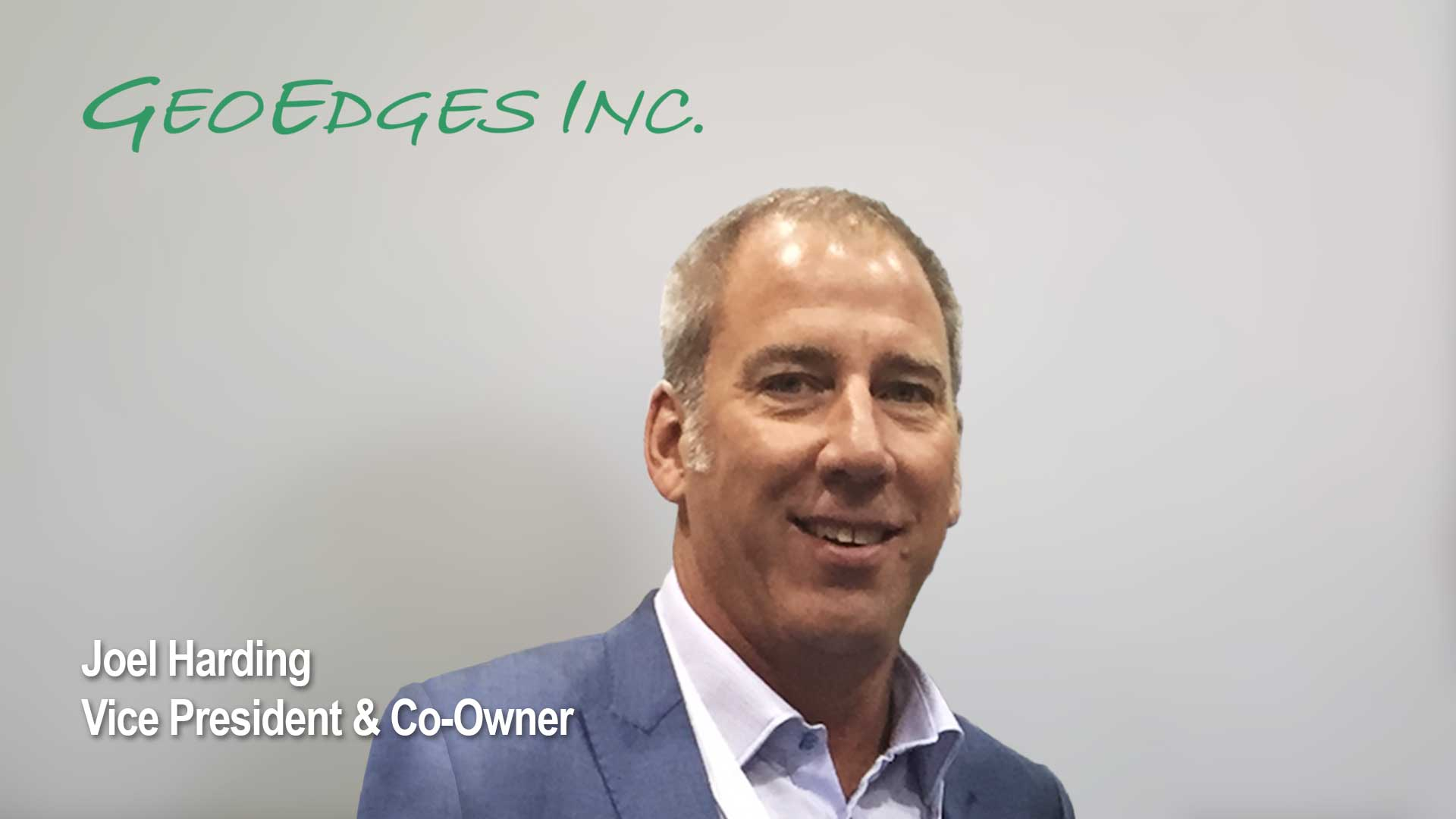 Photograph of Joel Harding, vice president and co-owner of GeoEdges Inc.