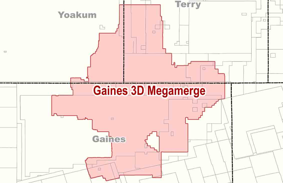 Gaines megamerge location in West Texas.